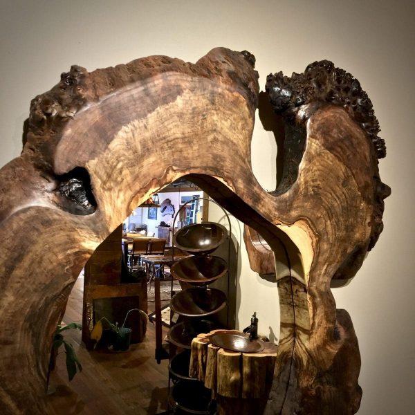 Claro walnut live edge mirror