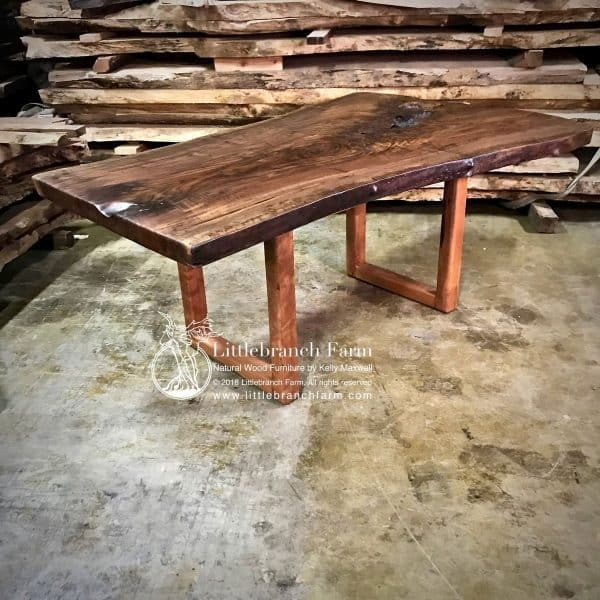 live edge wood Home office desk