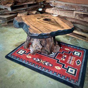 Redwood rustic coffee table