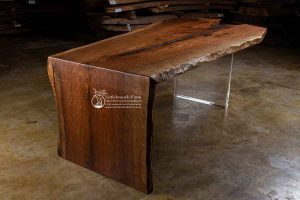 Waterfall live edge table