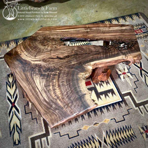 Claro walnut wood slab with great wood grain patterns.