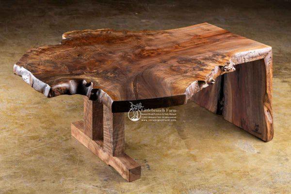 Claro walnut Natural rustic coffee table.