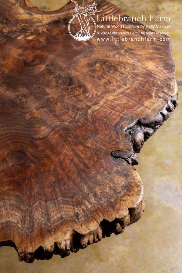 Natural rustic coffee table