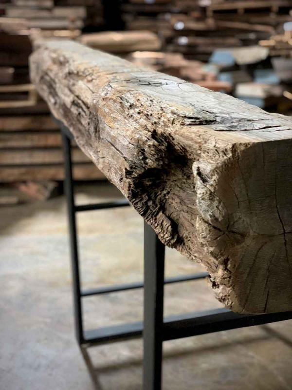 Weather wood beam