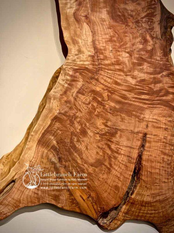 Redwood natural wood slab