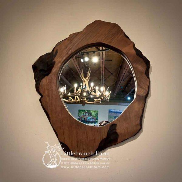 Redwood burl mirror