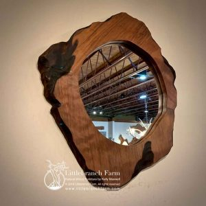Redwood rustic mirror