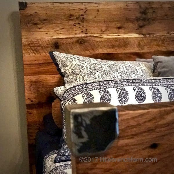 Wood plank bed