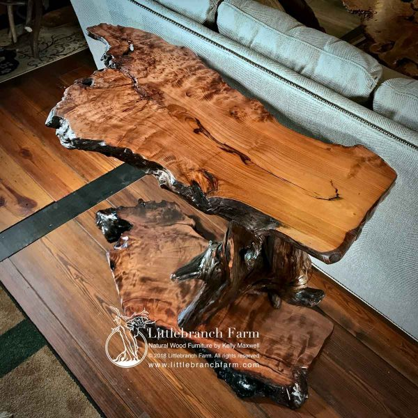 Redwood burl wood
