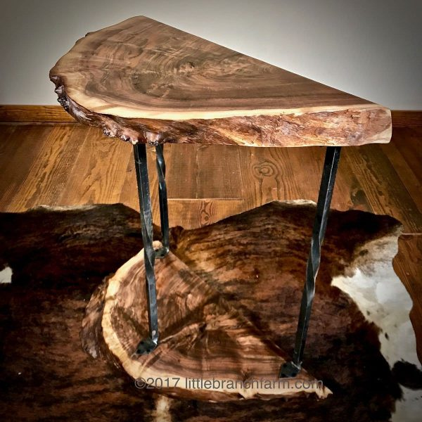 Live edge wood accent table
