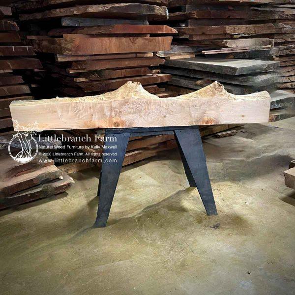 Maple live edge wood plank.