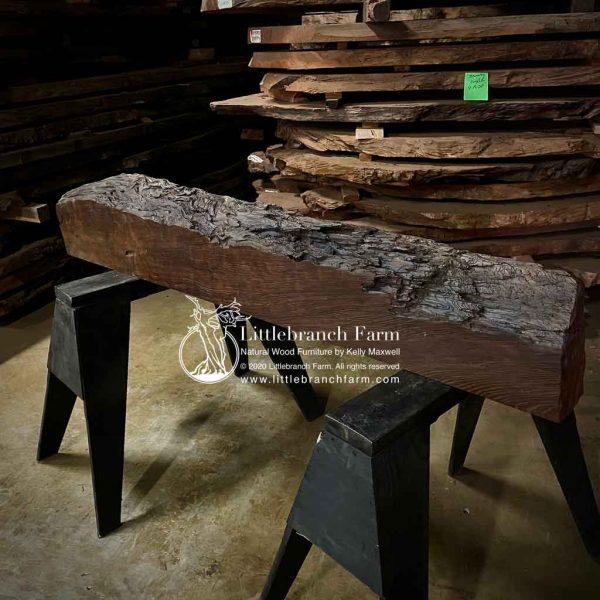 Live edge old growth redwood mantel