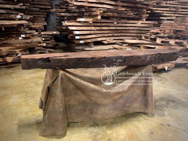 Natural edge wood rustic mantel.