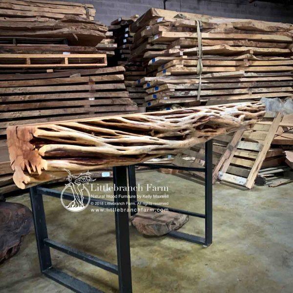 Tree live edge wood