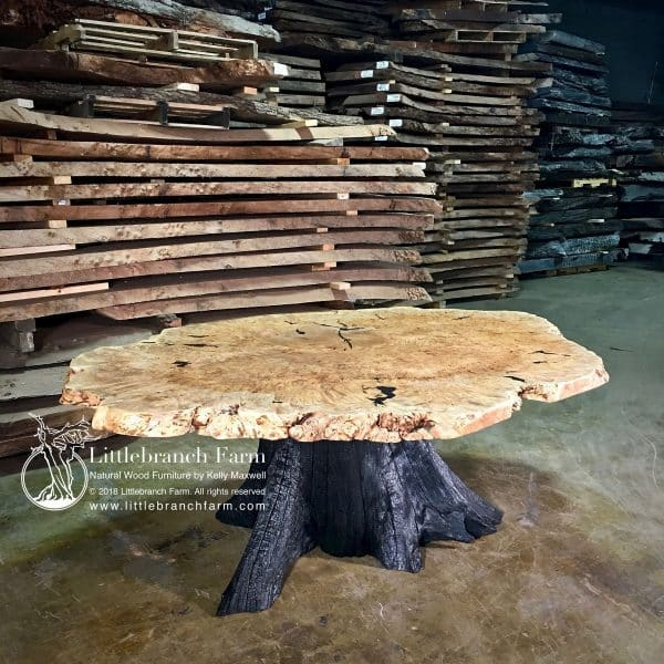 Burl live edge dining table