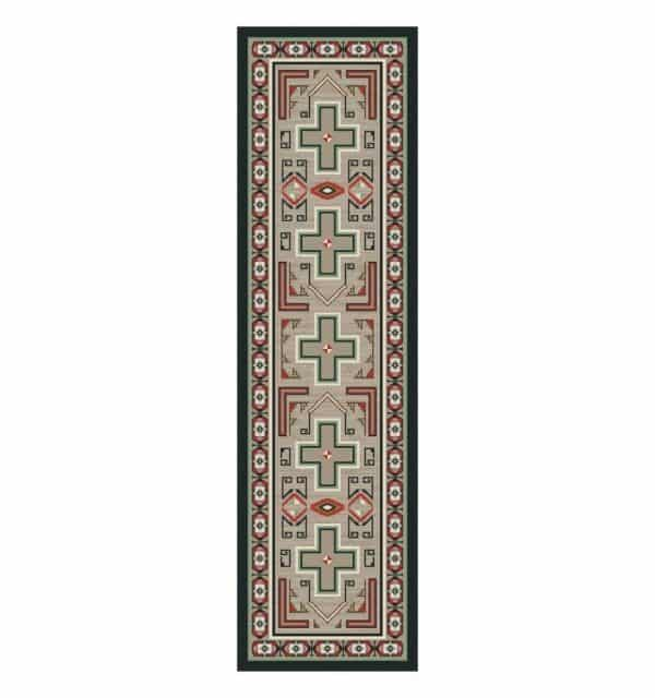 Sawtooth cabin rug