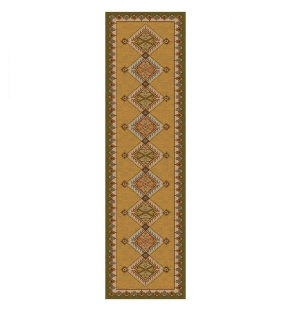 area rug in gold color