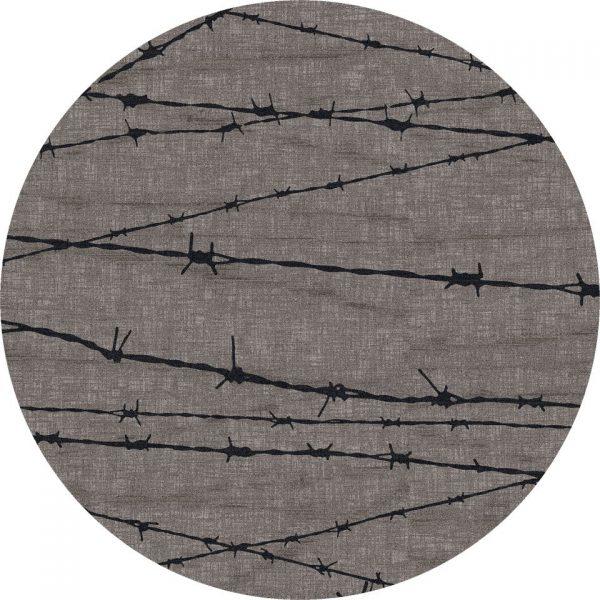 Round gray area rug