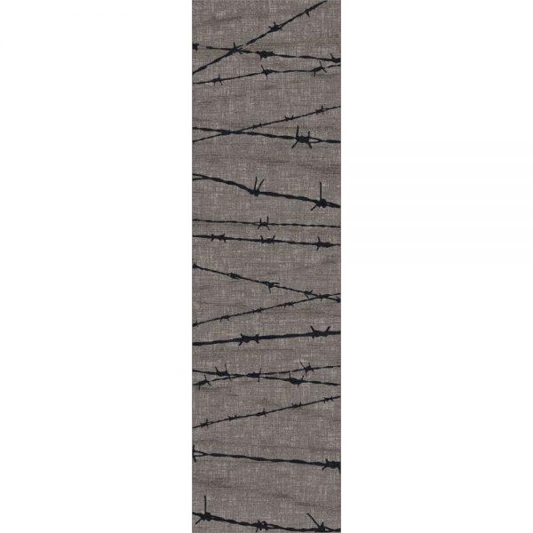 Gray western area rug