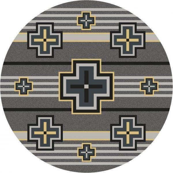 Yellow gray rug