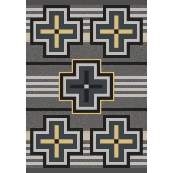 yellow crosses on gray