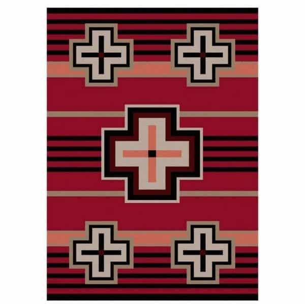Pinkish red rug