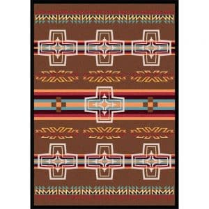 Spanish cross rug design