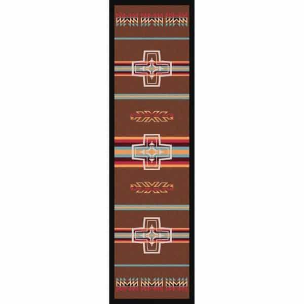 Brown cross area rug