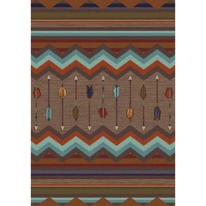 Modern rustic rug