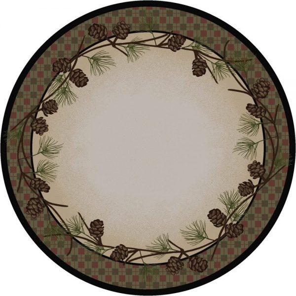 Pine cone round rug