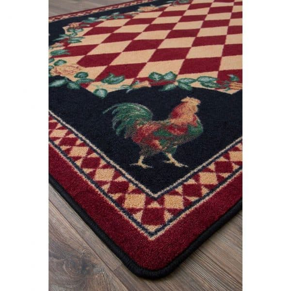 Farmhouse rooster rug