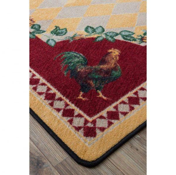 Barn yard rooster rug