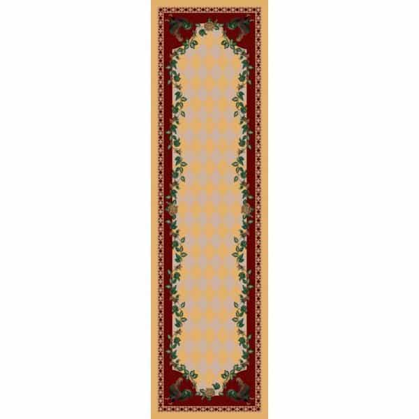 Yellow farmhouse rug