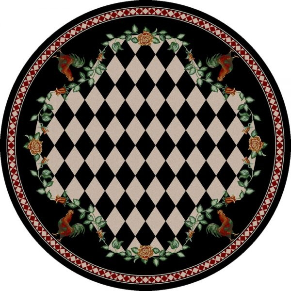Round farmhouse rug