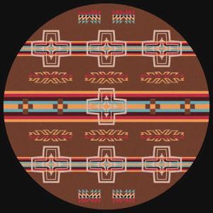 round brown cross rug