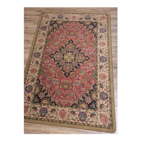 Warm inviting floral rug design