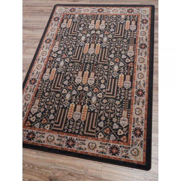 Natural rug color and design detail