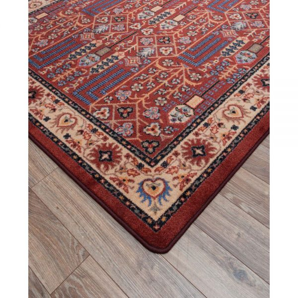 True design and colors of rust color rug