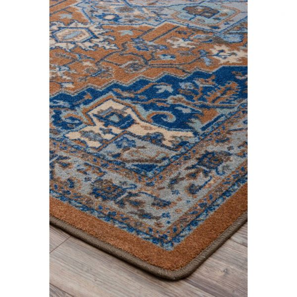 Detail picture of caramel rug