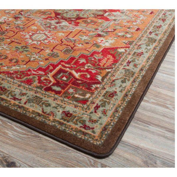 Corner detail of persia glow rug