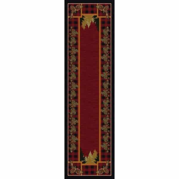 Pine tree red rug