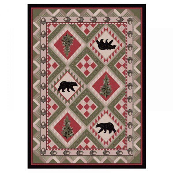 acorn and bear rug