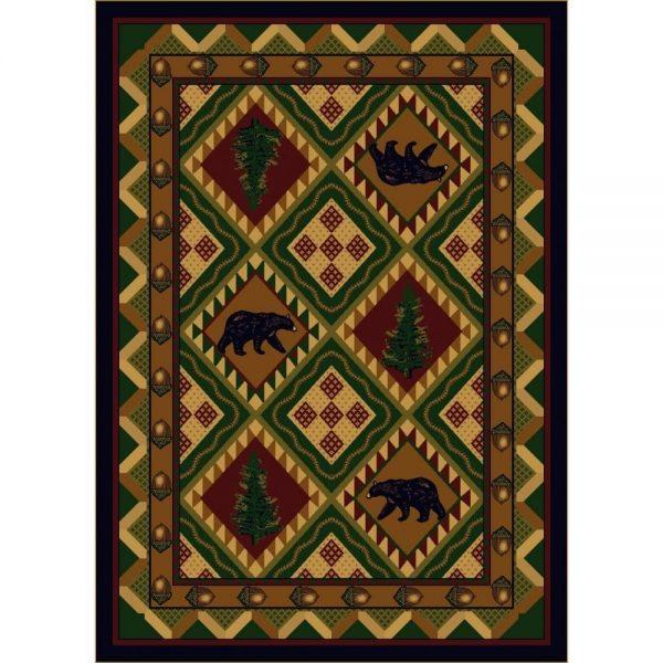 pine tree rug