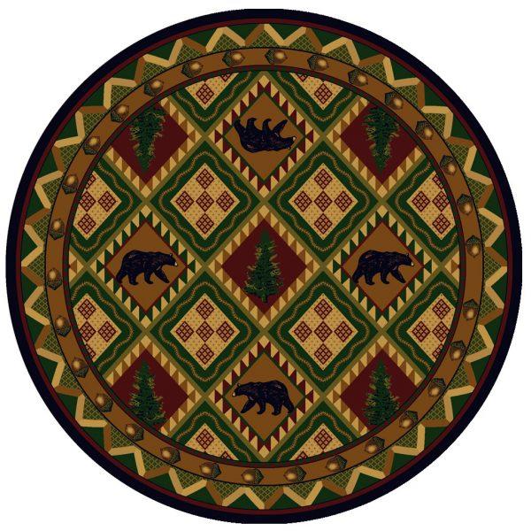 Woodland black bear rug