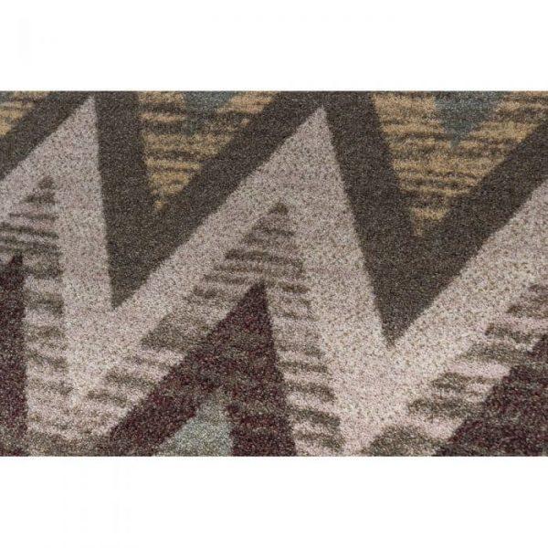 the texture of rain flame rug