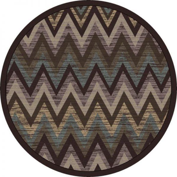 Static flame gray teal rug