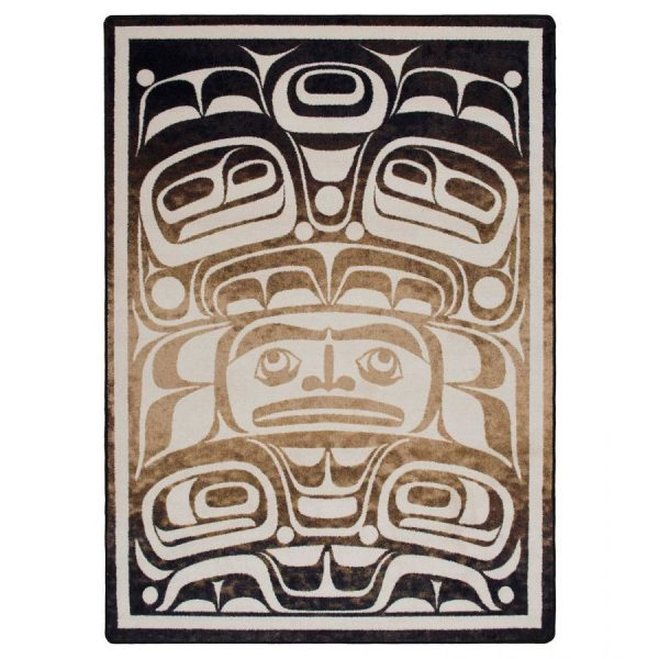 Abstract northwestern rug design