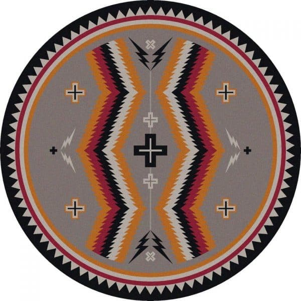 Southwest gray rug background