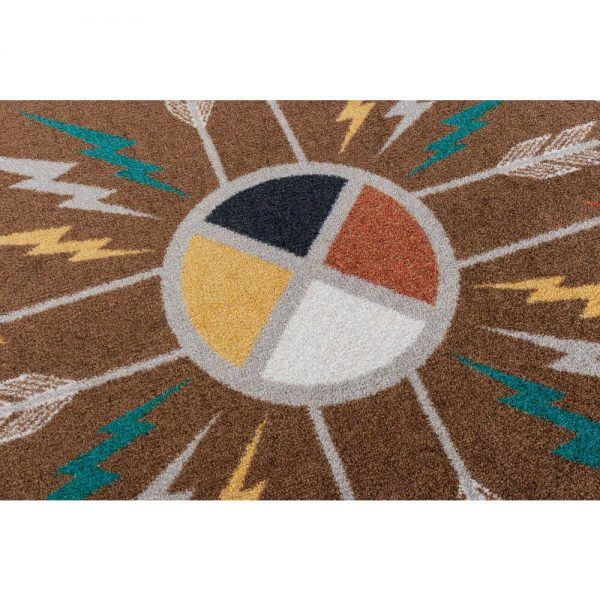 Burst of life area rug