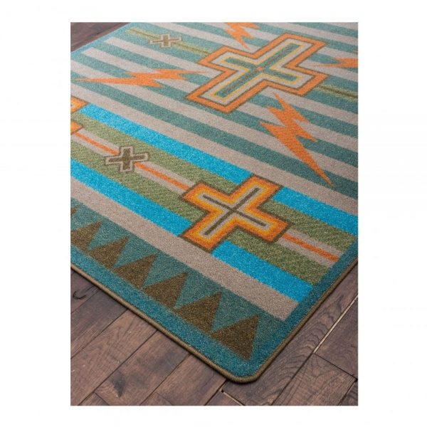Shades of blue rug